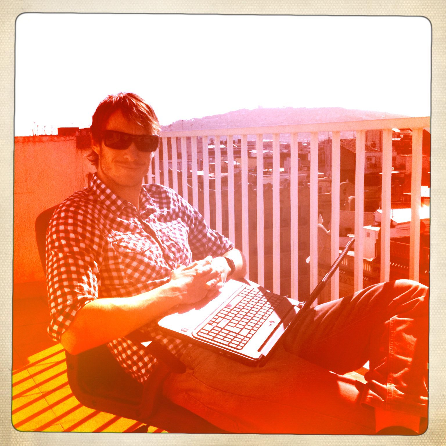 Copywriting on the terrace in Barcelona